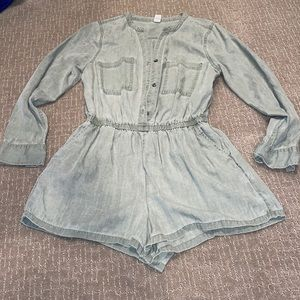 Old navy green L/S romper small